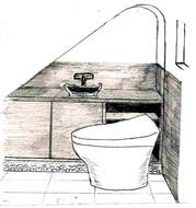 和モダンなトイレ