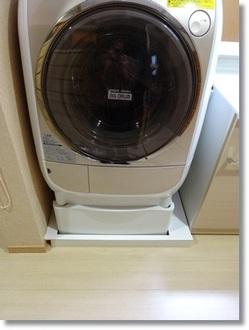 洗濯機パンのほこりよけ