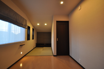 畳コーナーがある寝室