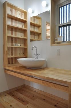 手作りの洗面台