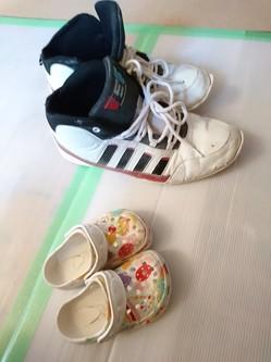 監督と大工さんの靴
