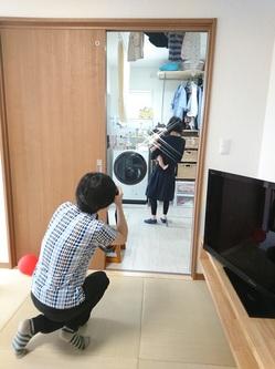 家事ラク室の撮影
