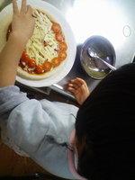 長女のピザ
