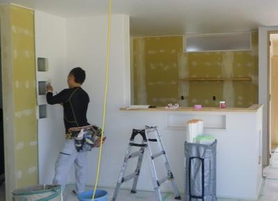 間仕切り壁にガラスブロック