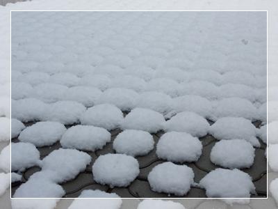 雪のワッフル