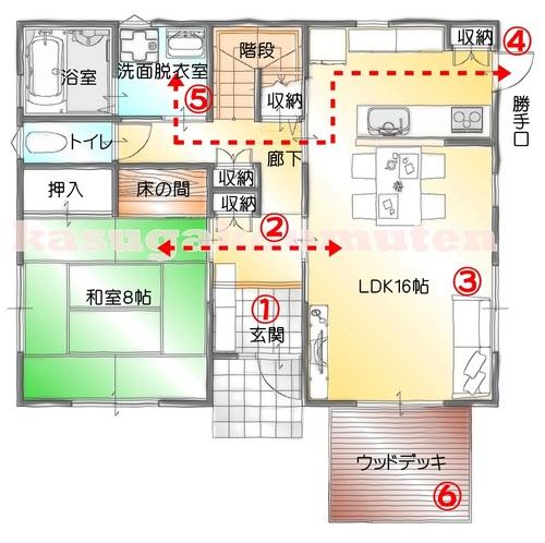 一般的な間取り(1階)