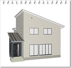 シンプルな四角い家
