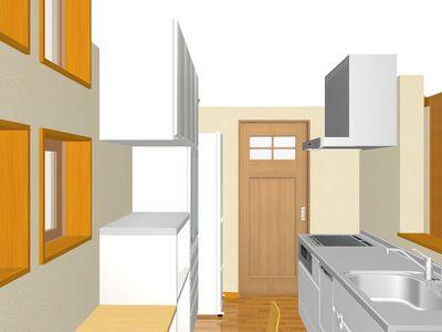 キッチンから家事ラク室