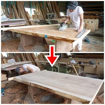 手作りのダイニングテーブル