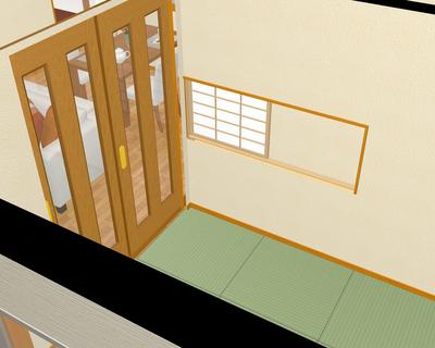 和室の小窓