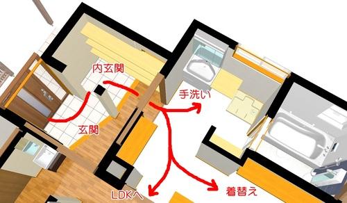 玄関から家事ラク室